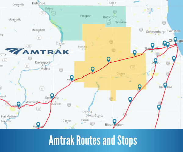 Amtrak Routes & Stops