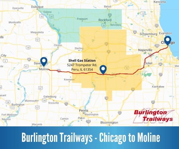 Burlington Trailways Map